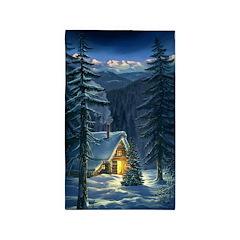 Christmas Snow Landscape Area Rug