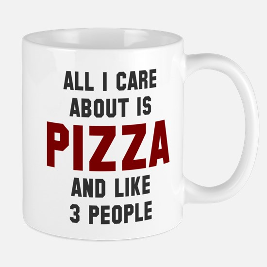 I care about pizza Mug