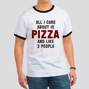 I care about pizza Ringer T