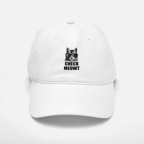 Check Meowt Baseball Baseball Cap