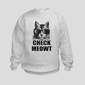 Check Meowt Kids Sweatshirt