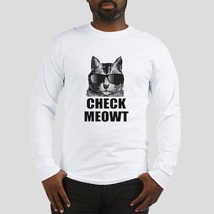 Check Meowt Long Sleeve T-Shirt