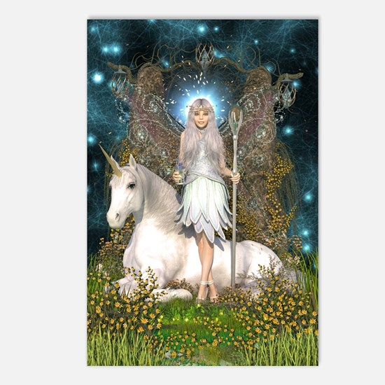 Crystal Fairy and Unicorn Postcards (Package of 8)
