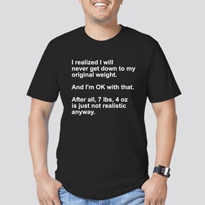 Original Weight Men's Fitted T-Shirt (dark)