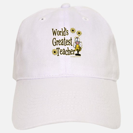 Teacher Bumble Bee Baseball Baseball Cap
