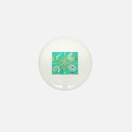 Unique Shell beach Mini Button