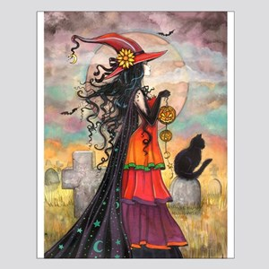 Witch Way Halloween Witch Art Posters