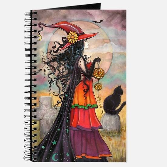 Witch Way Halloween Witch Art Journal