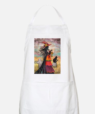 Witch Way Halloween Witch Art Apron