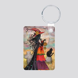 Witch Way Halloween Witch Art Keychains