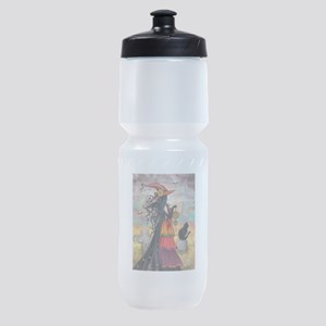 Witch Way Halloween Witch Art Sports Bottle