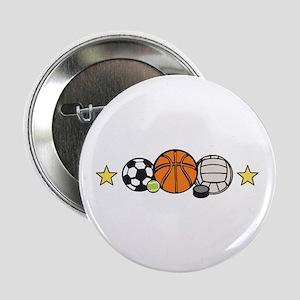 "Sports Equipment Border 2.25"" Button"