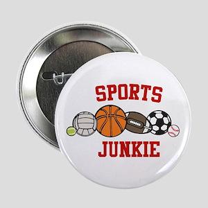 """Sports Junkie 2.25"""" Button"""
