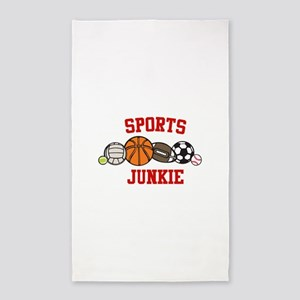 Sports Junkie 3'x5' Area Rug