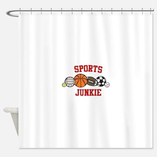 Sports Junkie Shower Curtain