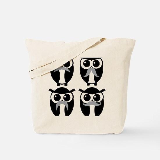 Unique Owl mustache Tote Bag