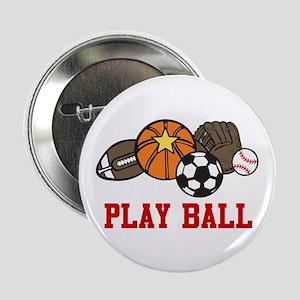 """Play Ball 2.25"""" Button"""