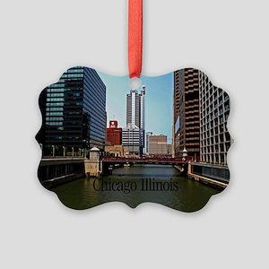 Chicago Illinois Picture Ornament