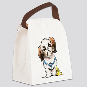 Shih Tzu Ducky Canvas Lunch Bag