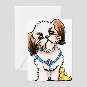 Shih Tzu Ducky Greeting Cards