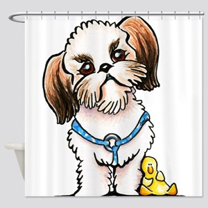 Shih Tzu Ducky Shower Curtain