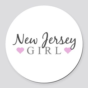 New Jersey Girl Round Car Magnet