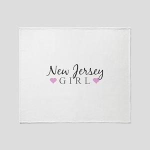 New Jersey Girl Throw Blanket