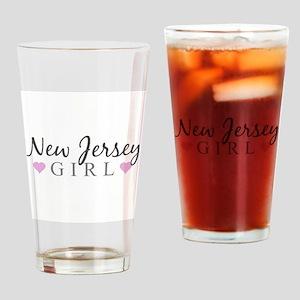 New Jersey Girl Drinking Glass