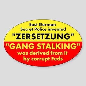 ZERSETZUNG Sticker (Oval)