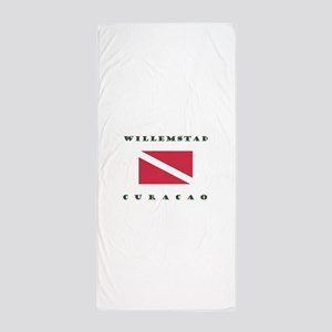 Willemstad Curacao Dive Beach Towel