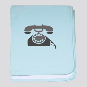 Rotary Phone baby blanket