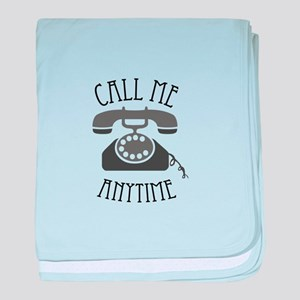 Call Me Anytime baby blanket