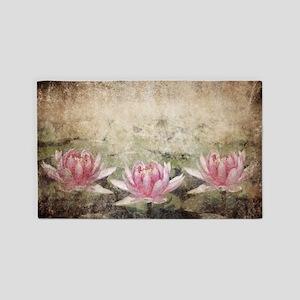 Pink Lotus Grunge Area Rug