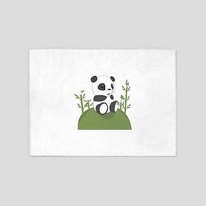 Panda Bear Cub 5'x7'Area Rug