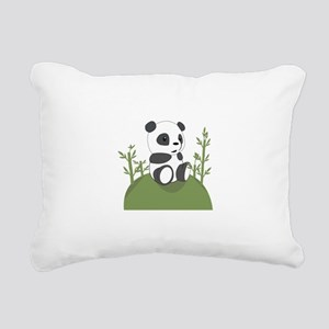 Panda Bear Cub Rectangular Canvas Pillow