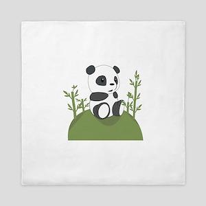 Panda Bear Cub Queen Duvet
