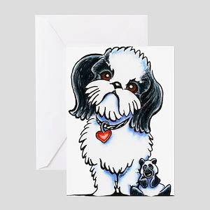 Shih Tzu Panda Greeting Cards