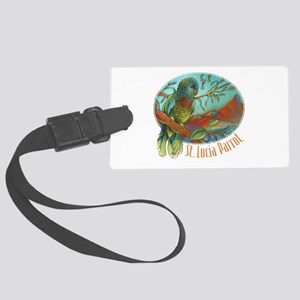 Tropical Parrot Large Luggage Tag
