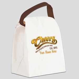 Cheers Logo Add Name Canvas Lunch Bag