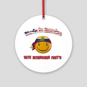 Made in America with Ecuadori Ornament (Round)