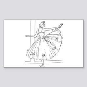 Ballerina Stretching - Color Your Own Sticker