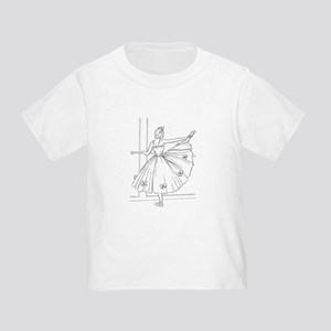 Ballerina Stretching - Color Your Own T-Shirt