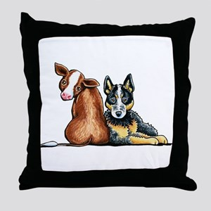 ACD and Cow Throw Pillow