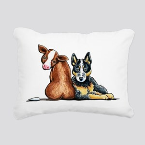 ACD and Cow Rectangular Canvas Pillow