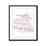 Jeremiah 29:11 Design Framed Panel Print