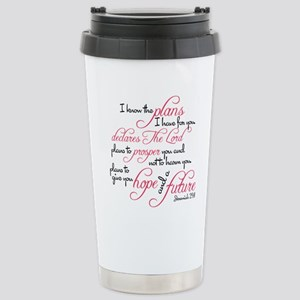 Jeremiah 29:11 Design Stainless Steel Travel Mug