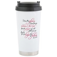 Jeremiah 29:11 Design Stainless Steel Travel Mug