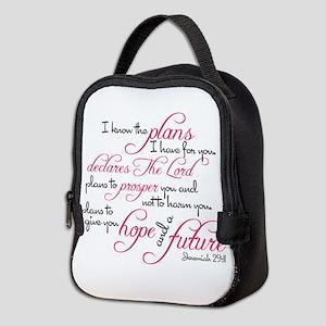 Jeremiah 29:11 Design Neoprene Lunch Bag