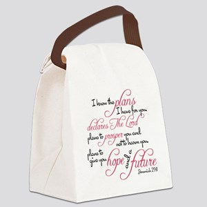 Jeremiah 29:11 Design Canvas Lunch Bag