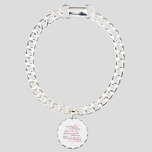 Jeremiah 29:11 Design Charm Bracelet, One Charm